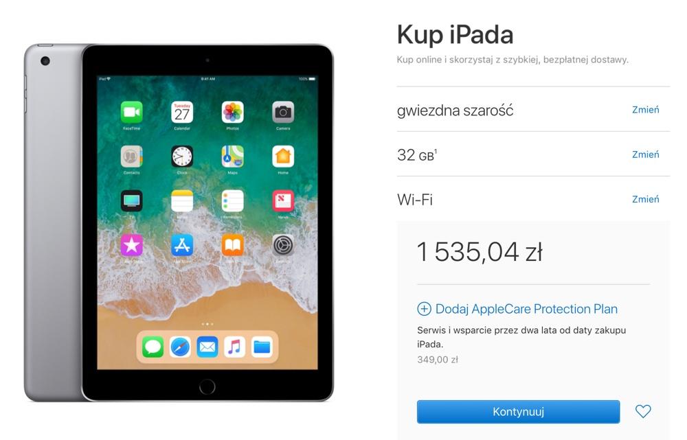 iPad 6. generacji (2018) cena w ofercie dla edukacji