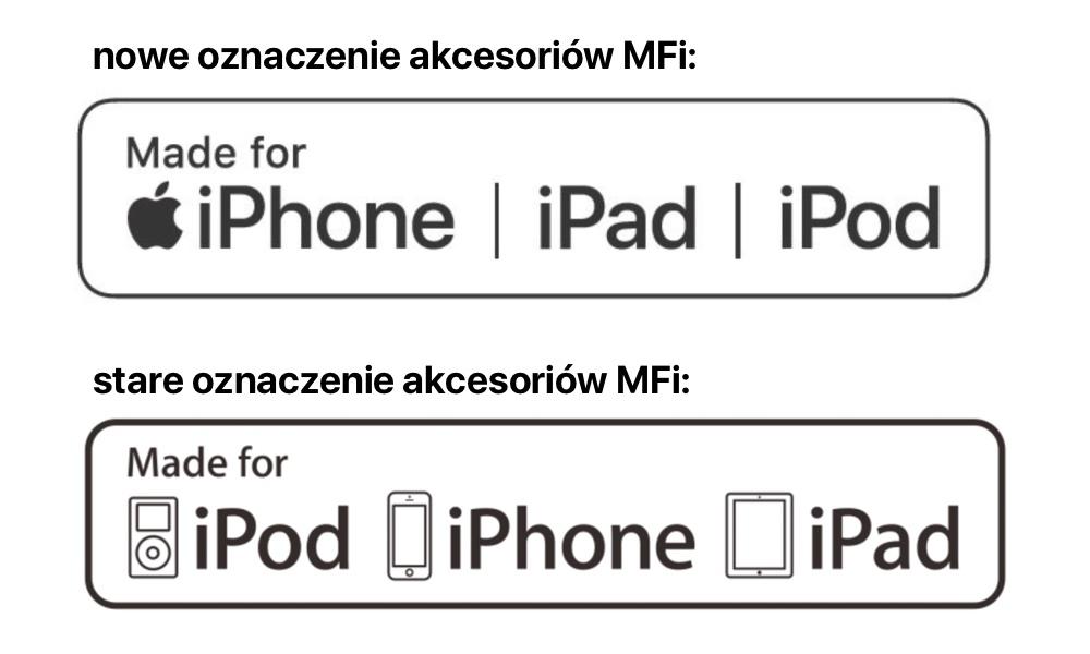 MFi: nowe vs. stare oznaczenie akcesoriów dla iPhone, iPada i iPoda