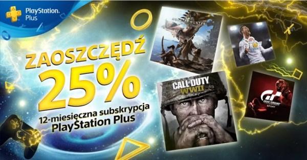 Teraz roczna subskrypcja PlayStation Plus 25% taniej