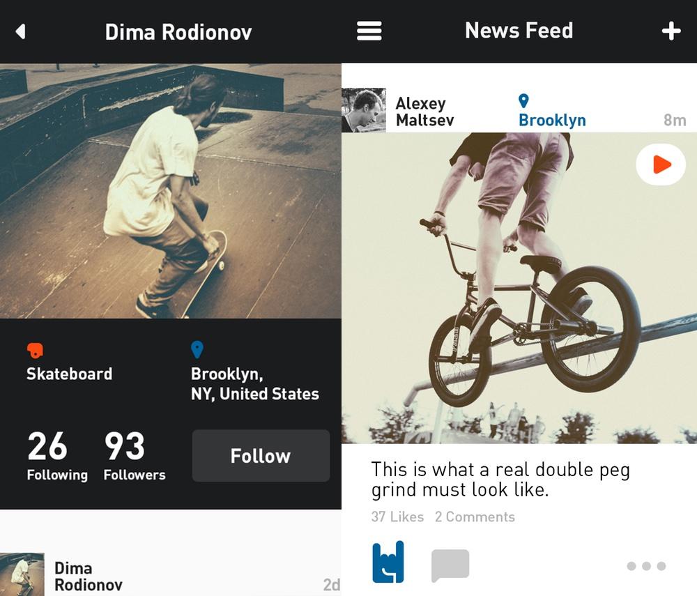 """Screen z aplikacji """"RIDERS"""""""