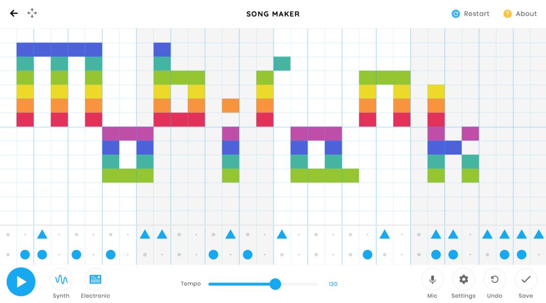 Song Maker - Chrome Music Lab od Google'a
