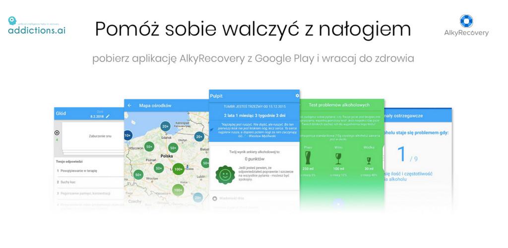 Aplikacja mobilna AlkyRecovery