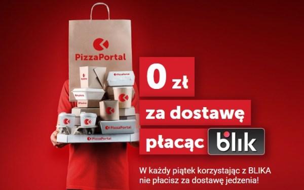 Darmowa dostawa w piątki na PizzaPortal przy płatności BLIKIEM