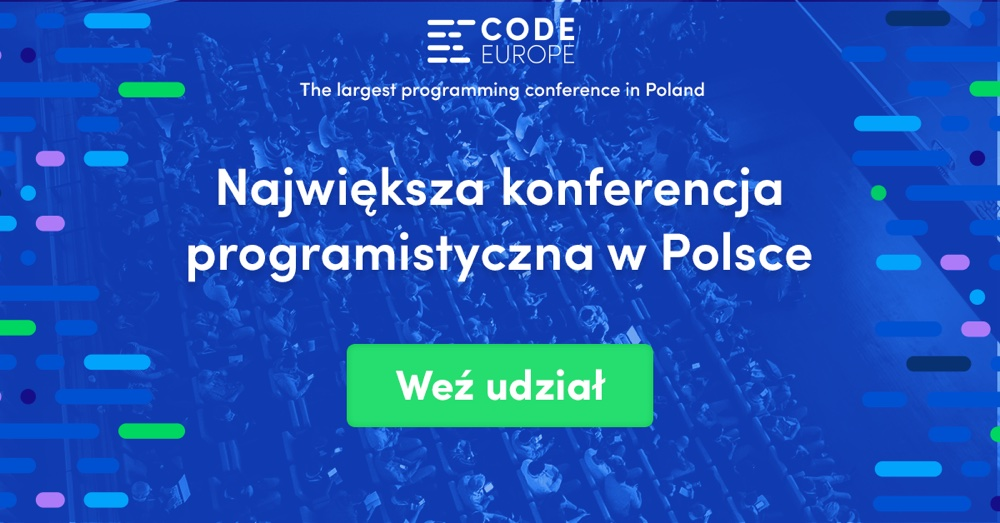 Code Europe (konferencja programistyczna) - banner