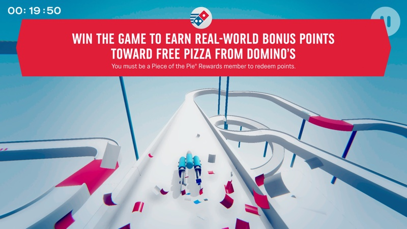 "Domino's ""Piece of the Pie Pursuit "" ( screen gry mobilnej)"