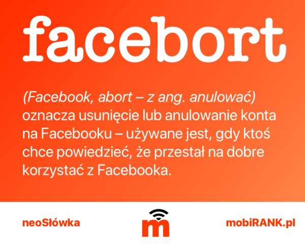 neoSłówka: Co to jest facebort?