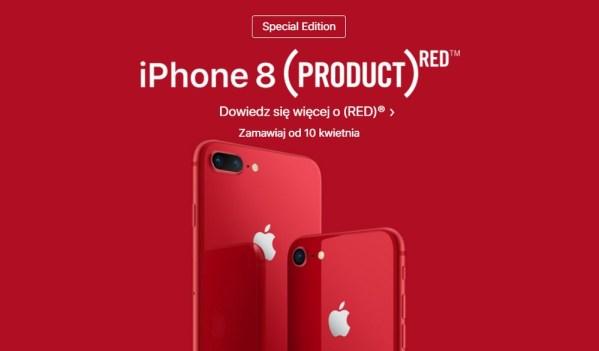 Apple wydaje czerwonego iPhone 8 z serii  PRODUCT(RED)™