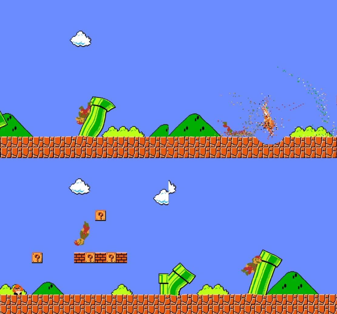 Screeny z gry Jelly Mario Bros.