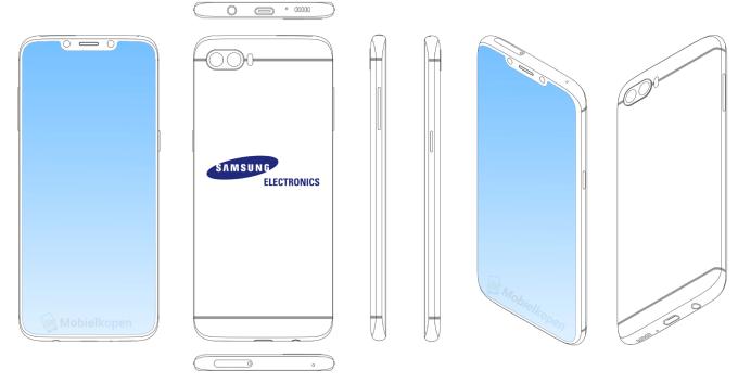 Patent Samsunga smartfon z wycięciem (notch)