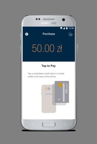 Screen aplikacji SoftPOS