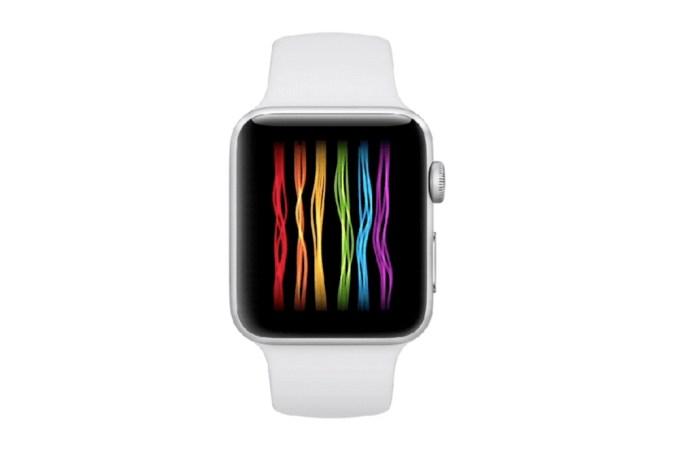 Tęczowa tarcza Apple Watcha (Pride)