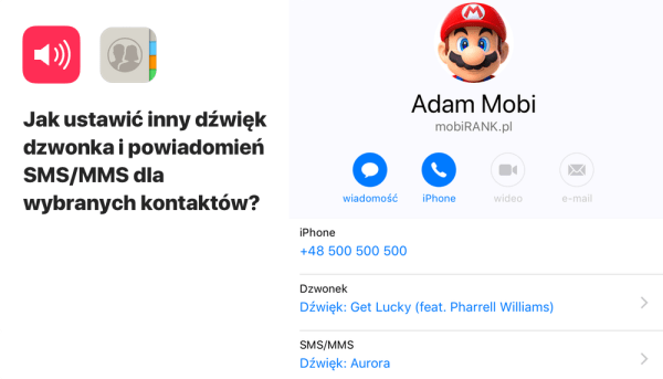 Jak ustawić inny dźwięk dla każdego kontaktu w iPhone'ie?
