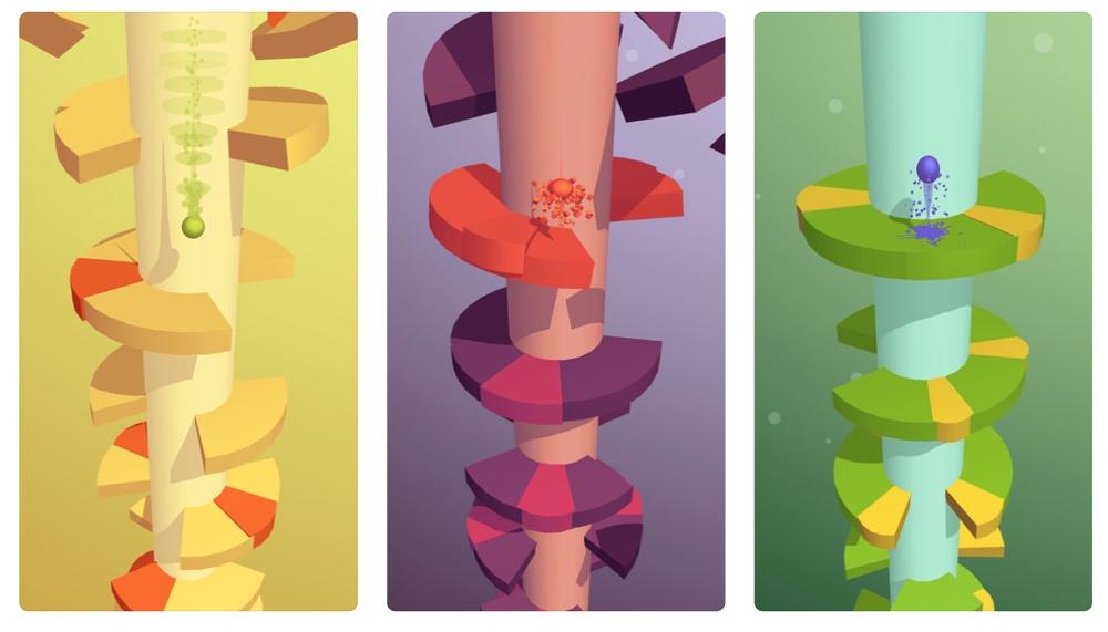 Helix Jump (zrzuty ekranu z gry)