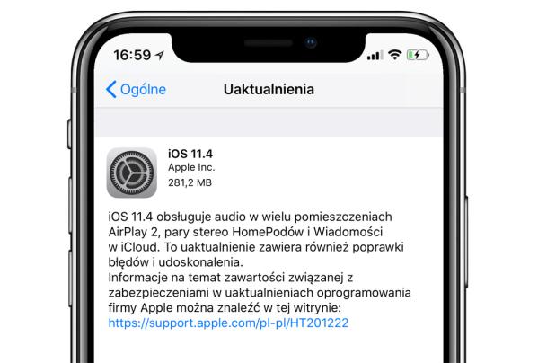iOS 11.4 to uaktualnienie, które warto zainstalować