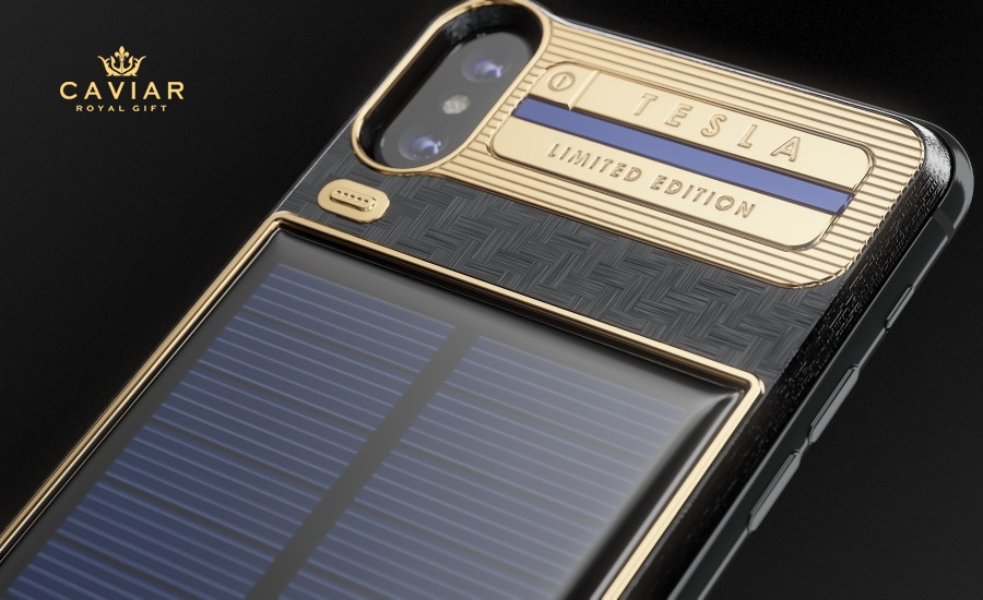 Etui iPhone X Tesla Limited Edition (Caviar)