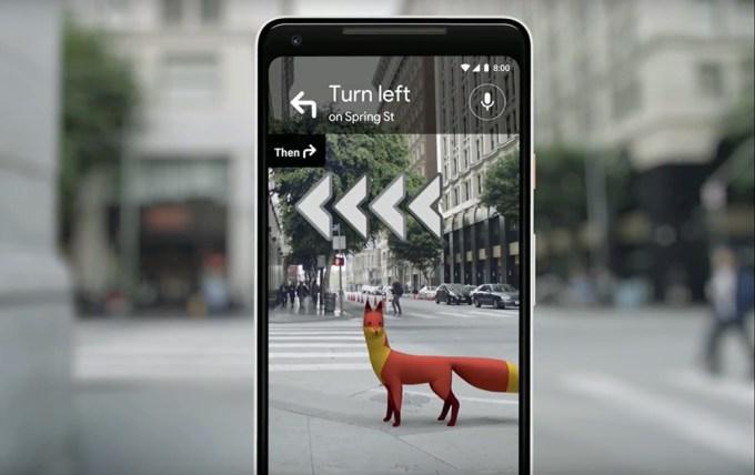 Mapy Google'a - nawigacja dla pieszych (lisek)