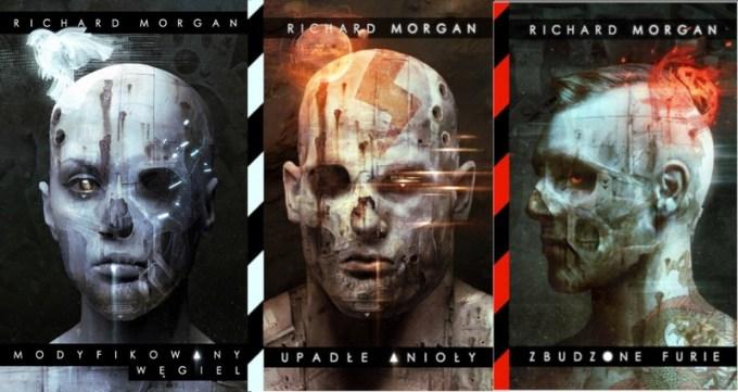 Okładki trylogii o Takeshi Kovacsie Richarda K. Morgana
