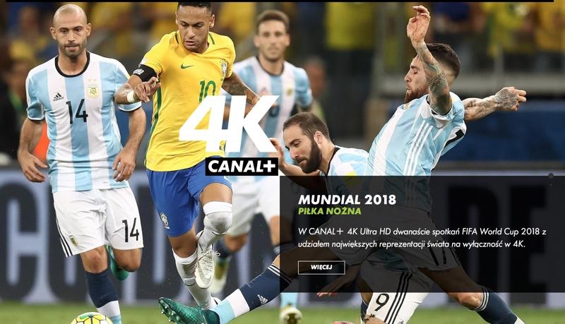 Piłka nożna w jakości obrazu 4K  na CANAL+ 4K Ultra HD
