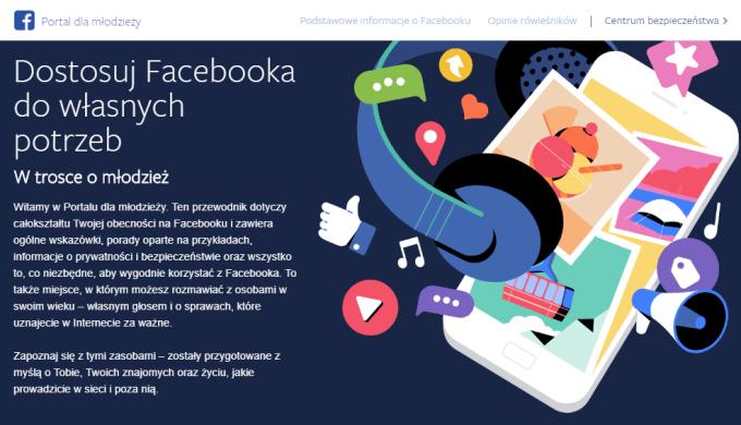 Portal dla młodzież Facebooka (zrzut ekranu)