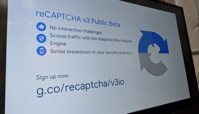 Zdjęcie slajdu z prezentacji reCAPTCHA v3 Public Beta