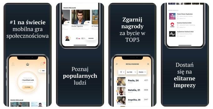 Royals App (zrzuty ekranu)