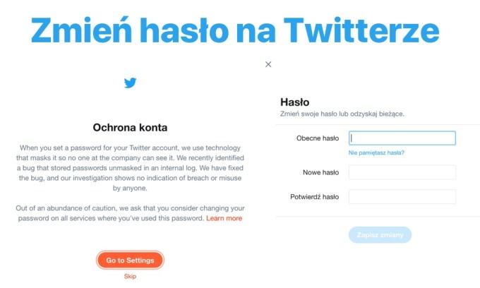 Zmień hasło na Twitterze