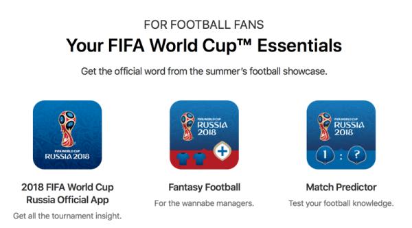 Specjalna sekcja FIFA World Cup™ w sklepie App Store