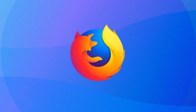 Logo Firefox na niebieskim tle (2018)
