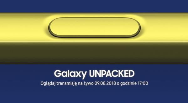 Samsung zaprasza na wydarzenie Galaxy Note9 Unpacked