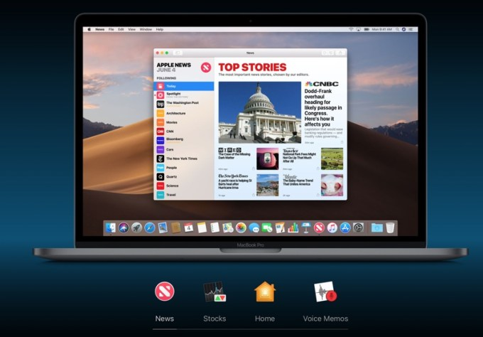 Nowe aplikacje pod macOS Mojave