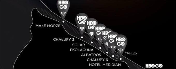 """Mapa ze strefami """"HBO GO nad morzem"""" 2018"""