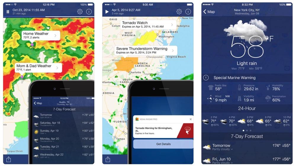 NOAA Radar Pro: Weather Alerts (screen)