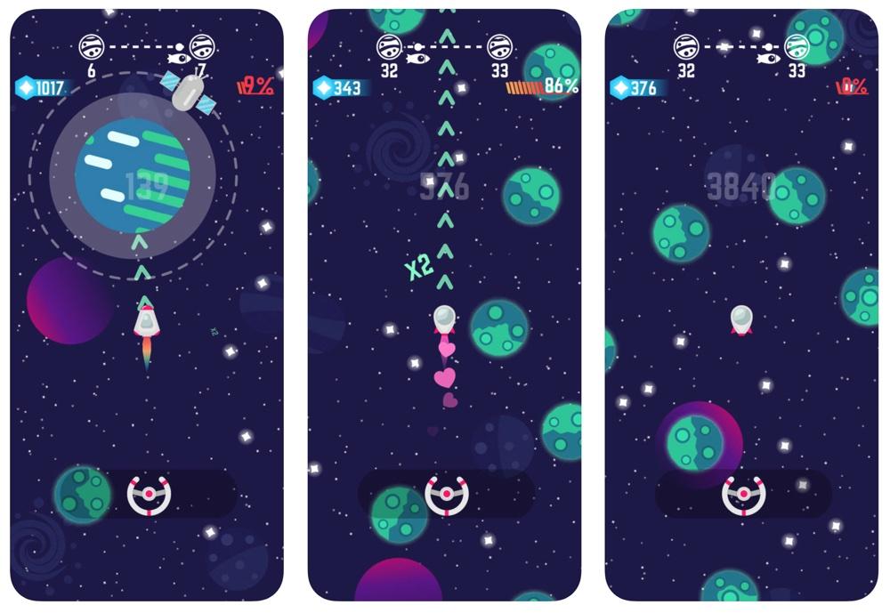 Zrzut ekranu z gry Space Drift! na iPhone'a