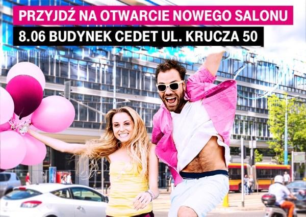 T‑Mobile Polska zaprasza na oficjalne otwarcie sklepu wkultowym CEDET wWarszawie