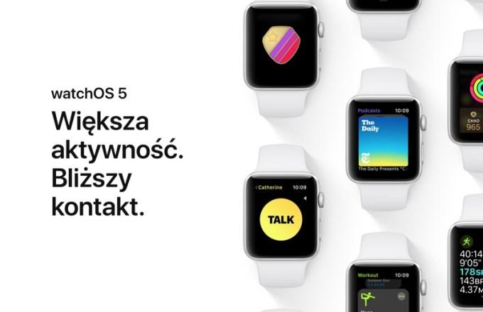 polskie strony o watchOS 5 (zapowiedź)