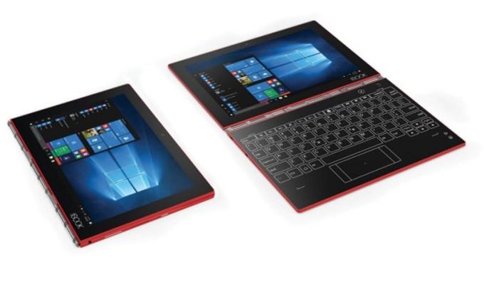 Czerwony tablet YOGA Book