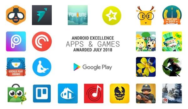 Najlepsze gry i aplikacje Android Excellence za 2Q 2018 r.