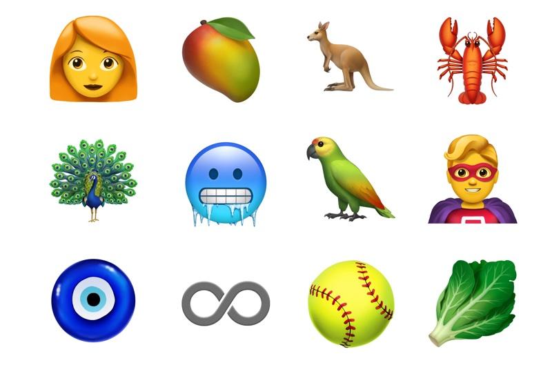 Nowe Emoji Apple'a z Unicode 11.0 (2018)
