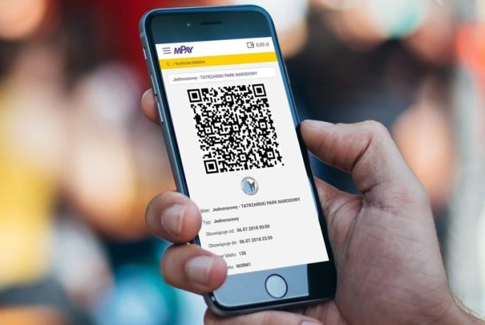E-bilet do Tatrzańskiego Parku Narodowego w aplikacji mPay na smartfony