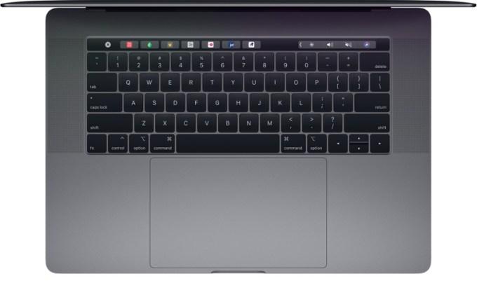Pełna klawiatura MacBooka Pro 2018