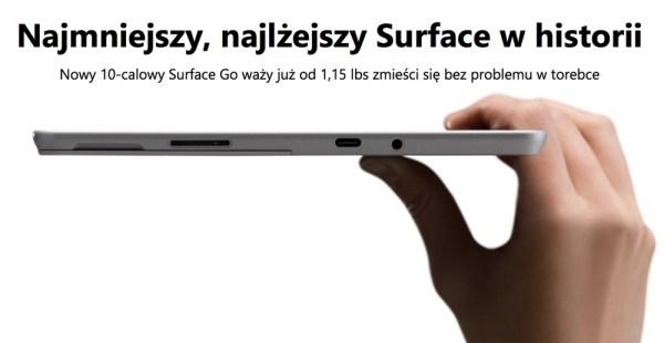 Superlekki Surface Go Microsoftu w cenie od 1999 zł