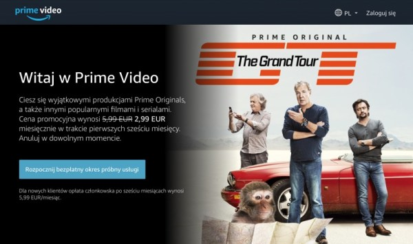 Serwis Amazon Prime Video w polskiej wersji językowej