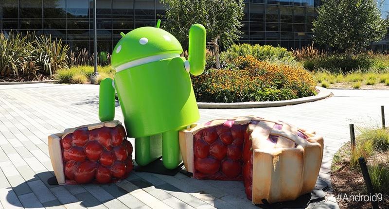 Pomnik systemu Android 9 Pie (Mountain View)