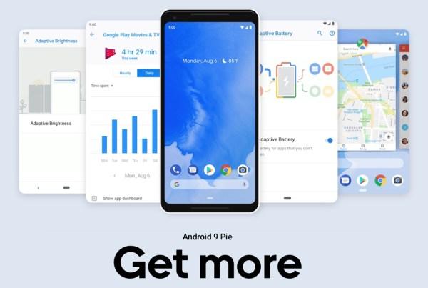 Android 9 Pie został dziś oficjalnie wydany!