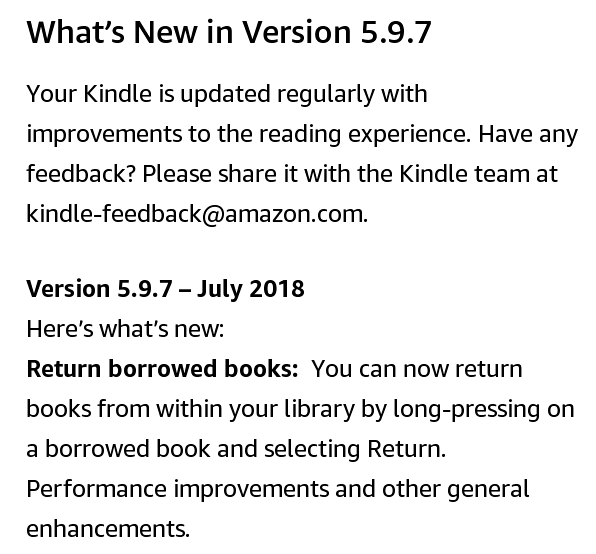 Kindle Software 5.9.7 - What's new?