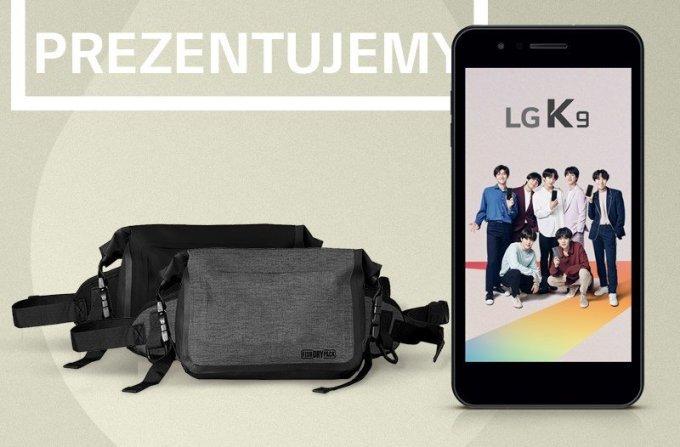 Torba typu nerka ze smartfonem LG K9