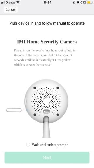 Konfiguracja kamerki Chuangmi w aplikacji mobilnej Mi Home