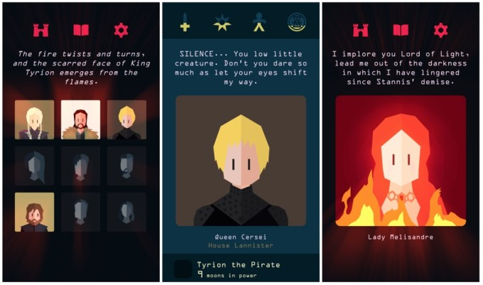 "Screeny z gry ""Reigns: Game of Thrones"""
