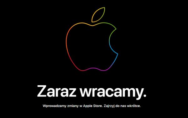 """""""Zaraz wracamy"""" w sklepie Apple Store przed premierą nowych iPhone'ów"""