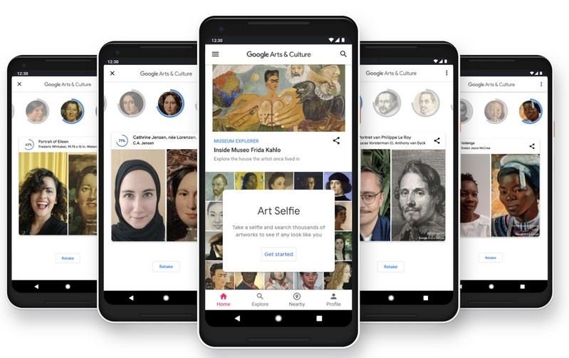 Art Selfie w aplikacji Google Arts & Culture